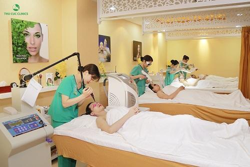 Thu Cúc Clinics là đơn vị tiên phong trong việc ứng dụng công nghệ cao, cho hiệu quả điều trị thẩm mỹ da tối ưu chỉ trong thời gian ngắn.