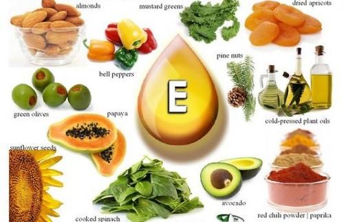 Những thực phẩm giàu vitamin E.