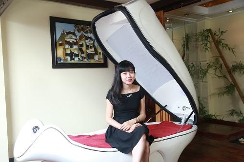 Da sáng mịn, không bị kích ứng khiến Trang thực sự hài lòng về dịch vụ tắm trắng phi thuyền