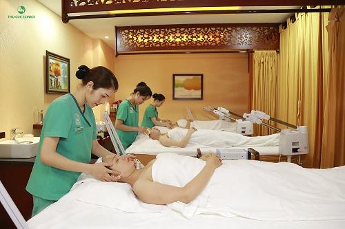 Tại Thu Cúc Clinics, khách hàng sẽ thực sự được thư giãn và chăm sóc tận tình, chuyên nghiệp.