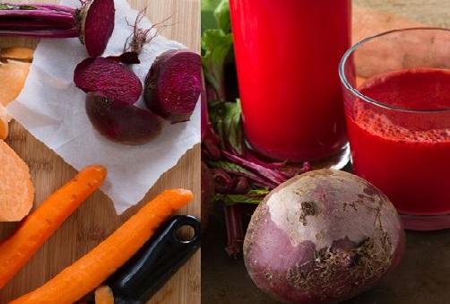 Cà rốt và củ dền có khả năng xóa tan tình trạng thâm môi tại nhà
