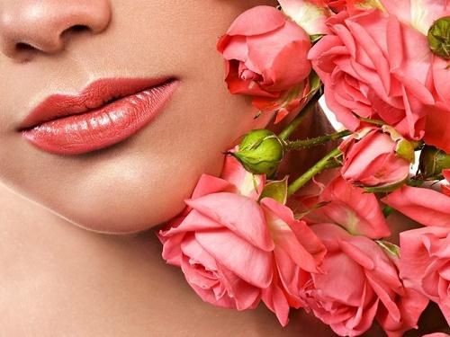 Hoa hồng không chỉ làm đẹp da, tạo mùi thơm quyến rũ mà còn giúp môi căng hồng gợi cảm