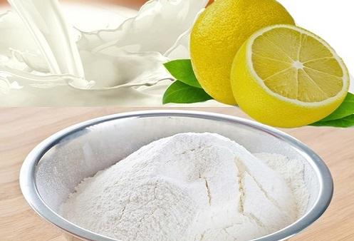 Hỗn hợp bột mì và chanh là phương pháp trị tàn nhang lành tính đem đến hiệu quả tại nhà