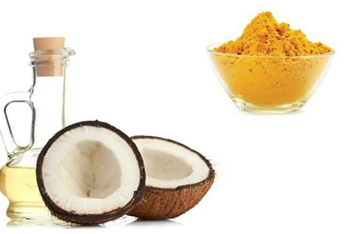 Bột nghệ, dầu dừa có khả năng se khít lỗ chân lông hiệu quả tại nhà