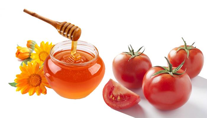 Hỗn hợp mật ong và cà chua là công thức giúp trị sẹo lõm trên mặt hiệu quả