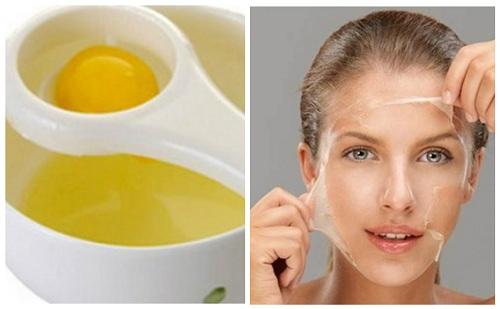 Mặt nạ từ lòng trắng trứng gà rất tốt cho các nàng có da dầu lỗ chân lông to.