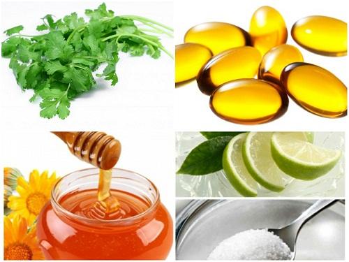 Những nguyên liệu chính để trị thâm môi.