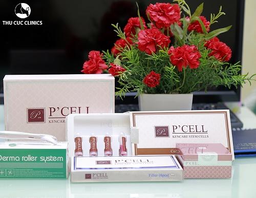 Sản phẩm tế bào gốc P'cell cao cấp được sử dụng độc quyền tại Thu Cúc Clinics.