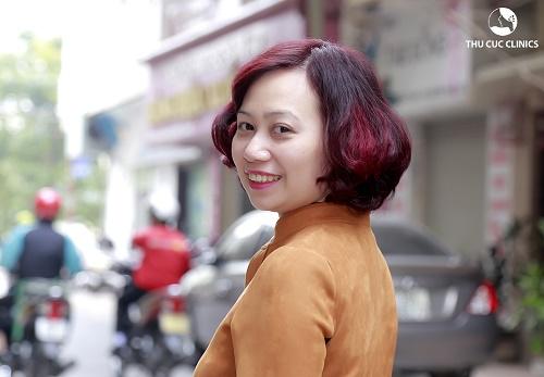 Hình ảnh chị Minh Tuyết sau khi sử dụng dịch vụ siêu trẻ hóa da bằng công nghệ tế bào gốc tại Thu Cúc Clinics.