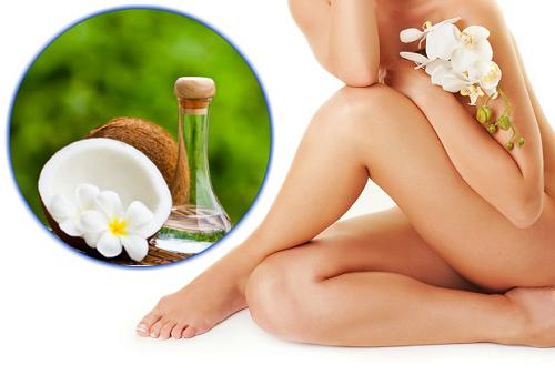 Các dưỡng chất trong dầu dừa có khả năng trị thâm vùng kín sau sinh tại nhà