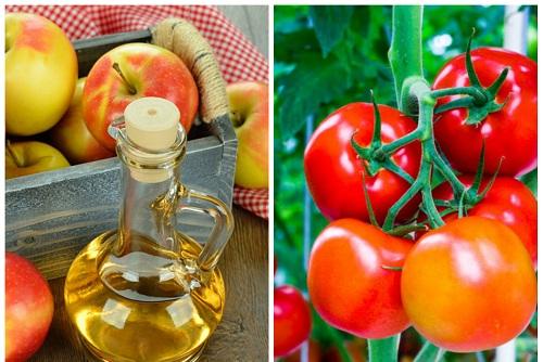 Tính axit có trong giấm táo và ca chua có tác dụng trị thâm vùng mông
