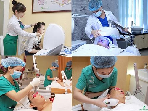 Ngoài chăm sóc da, Thu Cúc Clinics còn tiên phong ứng dụng công nghệ cao để điều trị mọi vấn đề thẩm mỹ làn da phái đẹp gặp phải: mụn, nám, tàn nhang, lão hóa...