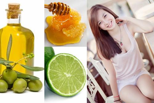 Sử dụng hỗn hợp mật ong, dầu oliu, chanh, lòng trắng trứng gà giúp đem lại làn da trắng sáng, mịn màng tự nhiên