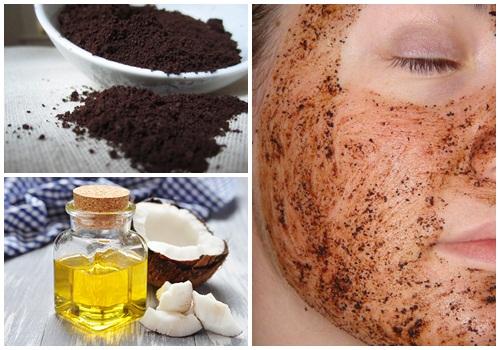 Công thức từ bã cà phê và dầu dừa có thể dùng cho cả mặt và toàn thân.