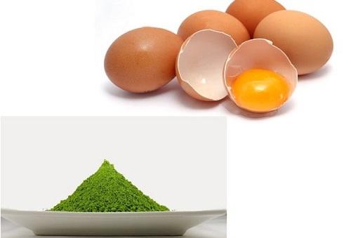 Các dưỡng chất có trong trà xanh và trứng gà đem đến tác dụng trị mụn ẩn hiệu quả tại nhà