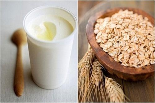 Công thức đưỡng trắng da bằng yến mạch và sữa chua được rất nhiều chị em áp dụng thành công.