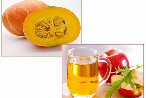 Bí đỏ, giấm táo chứa nhiều dưỡng chất đem đến khả năng dưỡng trắng tại nhà