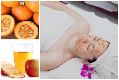 Sử dụng bí đỏ giấm táo dưỡng trắng da là phương pháp đơn giản dễ thực hiện tại nhà