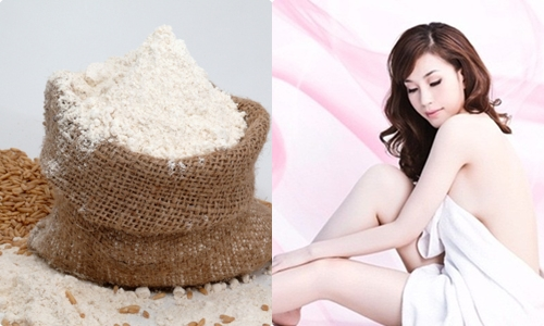 Cấc chị em có thể tự tắm trắng bằng bột cám gạo ngay tại nhà.