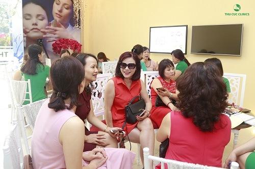 Dịch vụ triệt lông mặt tại Thu Cúc Clinics nhận được quan tâm đông đảo của khách hàng