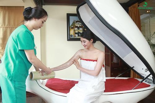 Tắm trắng phi thuyền cho làn da căng mịn giúp mỗi eva thêm rạng rỡ, tự tin hơn