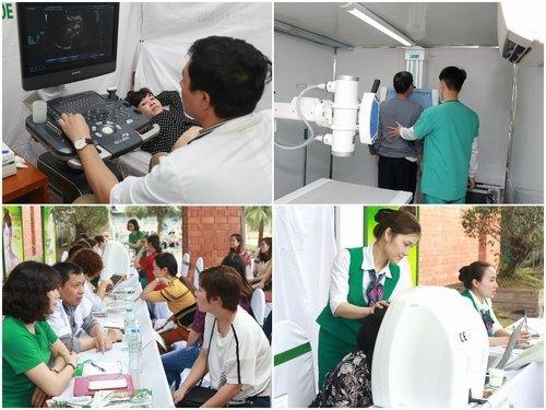 Hình ảnh các hoạt động tầm soát ung thư và tư vấn làm đẹp tại Cung văn hóa Lao động Việt - Nhật tỉnh Quảng Ninh - Tp. Hạ Long.