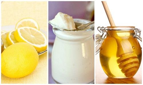 Sữa chua, mật ong và chanh đều là những nguyên liệu làm đẹp quen thuộc có trong mỗi gia đình.