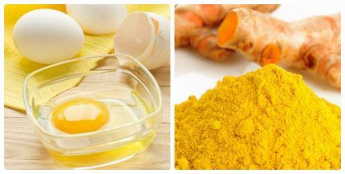 Sử dụng hỗn hợp bột nghệ và lòng trắng trứng thường xuyên sẽ giúp loại bỏ lông nách và làm sáng da hữu hiệu.
