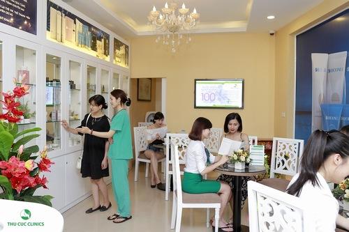 Dịch vụ tắm trắng tại Thu Cúc Clincis nhận được quan tâm đông đảo khách hàng