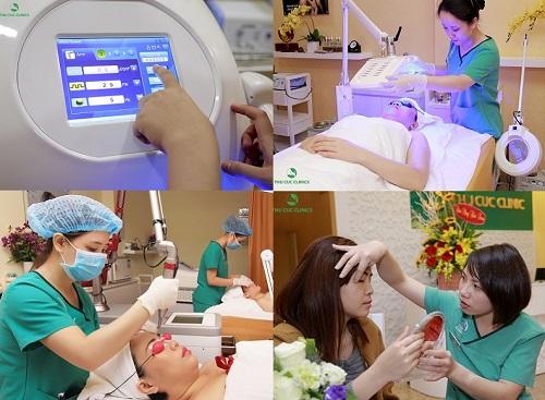 … khi điều trị thẩm mỹ da công nghệ cao: triệt lông Laser Diode, trị mụn Blue Light, trị nám – tàn nhang Laser YAG, trẻ hóa da Hifu – Thermage…