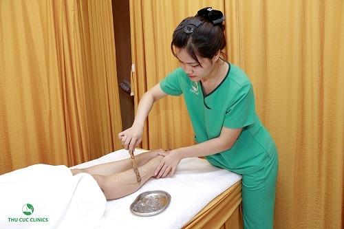 Dịch vụ triệt lông chân tại Thu Cúc Clinics được thực hiện đúng quy trình bài bản, khoa học và chuyên biệt, giúp chị em đạt hiệu quả tối ưu nhất