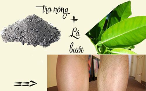 Tẩy lông bằng lá buổi và tro bếp là phương pháp có nguồn gôc từ dân tộc Dao.