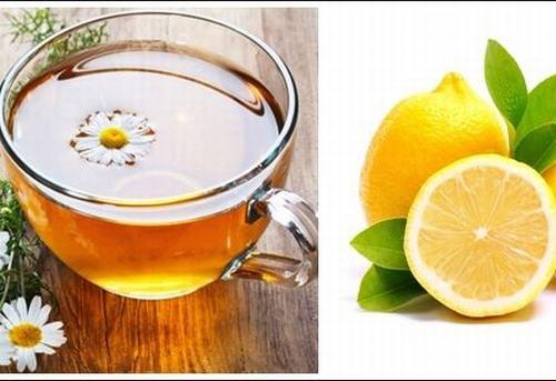 Sự kết hợp giữa chanh và trà hoa cúc sẽ tạo ra một nguồn năng lượng giúp loại bỏ tối ưu các sợi lông trên da.