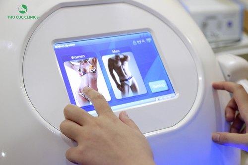 Thu Cúc Clinics ứng dụng công nghệLaser Diode để triệt lông bikinicho khách hàng.