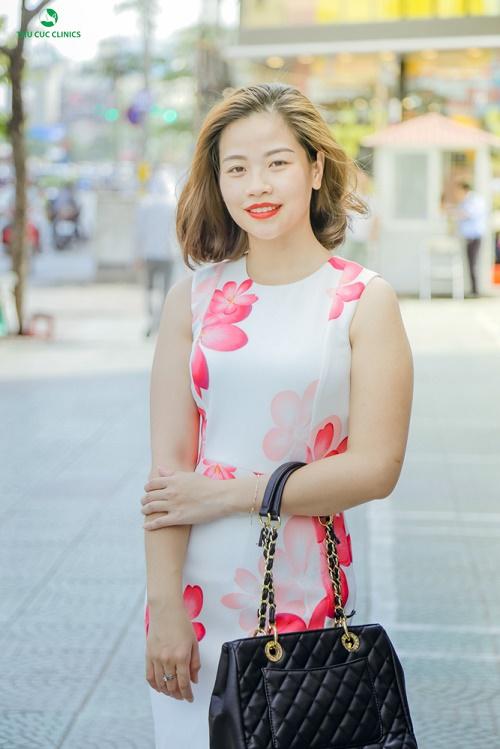 """Bên cạnh điều trị rạn da, Thùy Linh quyết định thực hiện thêm các dịch vụ chăm sóc da mặt tại Thu Cúc Clinics để """"tút"""" lại nhan sắc trẻ trung."""