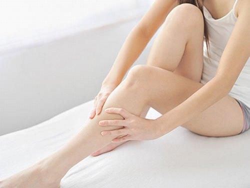 Làn da láng mịn sau khi dùng sáp wax lông tự làm.