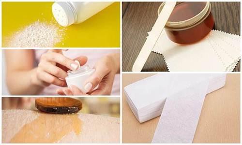 Các dụng cụ để tự wax lông tại nhà.