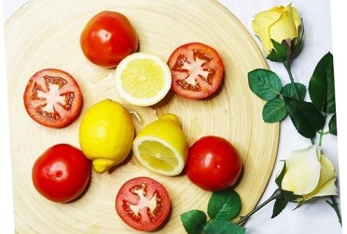 Hỗn hợp chanh, cà chua là phương pháp triệt lông nách an toàn thân thiện với làn da