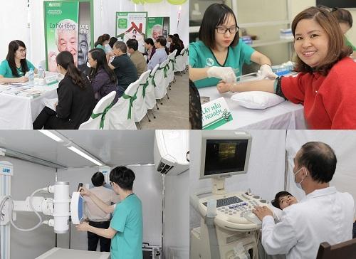 Cũng tại sự kiện ngày 22/04, các bác sĩ chuyên khoa Ung bướu tại Bệnh viện Thu Cúc đã tổ chức khám tầm soát Ung thư hoàn toàn miễn phí (Ung thư vú đối với nữ & Ung thư tuyến tiền liệt đối với nam) cho 500 người dân tại Lạng Sơn