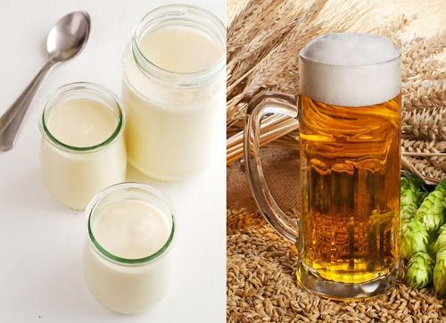 Kết hợp bia tươi và sữa tươi sẽ phát huy tác dụng dưỡng trắng an toàn.