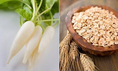 Bột yến mạch và củ cải là các nguyên liệu thiên nhiên giúp điều trị tàn nhang an toàn.