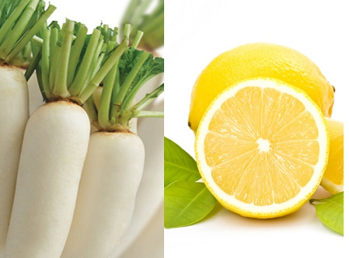 Kết hợp trị tàn nhang bằng củ cải trắng và nước chanh đem lại kết quả nhanh chóng hơn.