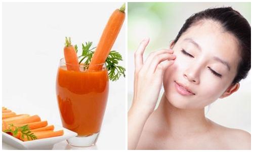 Cà rốt giúp bạn làm mờ các nốt tàn nhang an toàn.