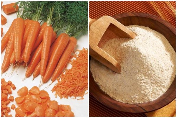 Công thức làm trắng da và chống nắng với cà rốt + yến mạch