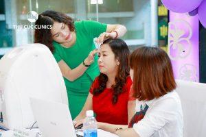 Thu Cúc Clinics soi da miễn phí tại ngày Hội doanh nhân trẻ Bắc Giang
