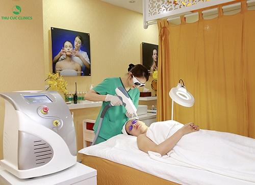 Thu Cúc Clinics ứng dụng rất thành công trị nám tàn nhang bằng công nghệ Laser YAG.