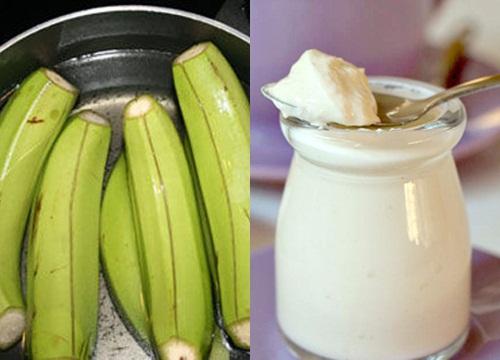 Kết hợp sử dụng chuối xanh và sữa chua sẽ tạo nên mặt nạ trị nám tàn nhang nhanh chóng.