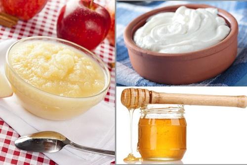Giấm táo kết hợp với sữa chua giúp làm mờ các đốm tàn nhang và giúp làn da căng mịn và tươi sáng hơn.