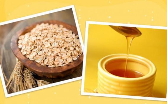 Kiên trì sử dụng mật ong và bột yến mạch để làm trắng sáng da mặt tại nhà