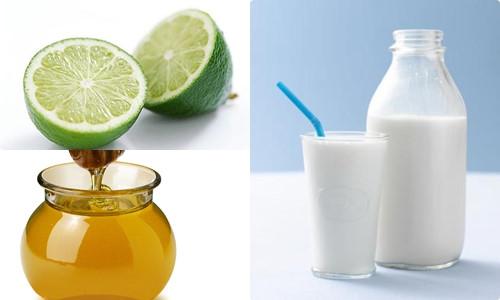 Cách làm trắng da mặt bằng sữa tươi, chanh, mật ong